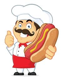 Chef Holding <b>Hot Dog Wall Decal</b> – WallMonkeys.com