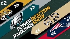 Power Rankings Week 2 Reaction Show: Giants Higher Than ...