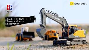 Double E <b>E568 3</b> in <b>1</b> Remote Control Excavator - Gearbest.com ...