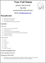 receptionist sample resume free   best sample resumes     receptionist sample resume free