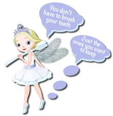 Brush your Teeth Tooth Fairy Wall Stickers - Totally Movable