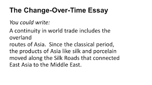 the continuity and change over time essay the big picture the 16 the