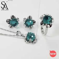 <b>SA SILVERAGE 925</b> Sterling <b>Silver</b> Round Blue Agate Crystal 3 ...