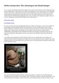 essay on disadvantages of online dating   essay for you  essay on disadvantages of online dating   image