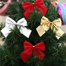 <b>12Pcs Bow</b> Tie Christmas Tree Decoration Mini Christmas <b>Bows</b> ...