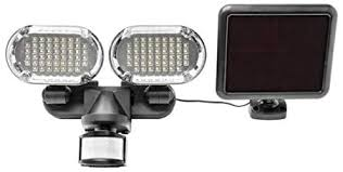 Sunforce <b>100 LED Twin Head</b> Solar Motion Light with Corner ...