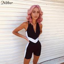 Nibber summer <b>Reflective stripes</b> Jogging 2two pieces women sets ...