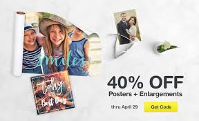walgreens photo same day prints cards books and gifts 40% off posters enlargements thru 29 get code