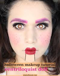 ventriloquist doll makeup tutorial easy and done with mostly and budget makeup