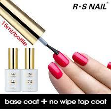 <b>RS Nail</b> Gel Polish No Wipe Top Coat+Foundation Base Coat <b>UV</b> ...