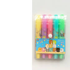 <b>6 set Lot</b> Cute animal color highlighter pen Cartoon Sumikko gurashi