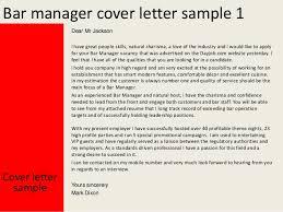 bar manager cover letter bar manager cover letter