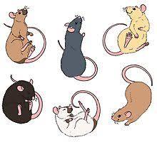<b>Kawaii Mice</b> Stickers | Redbubble