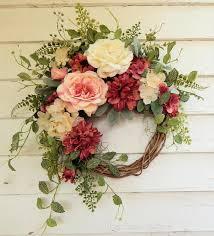 Front <b>Door French</b> Country Wreath Silk <b>Flower</b> Wreath <b>Rose</b> | Etsy