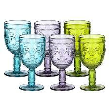 <b>Набор из 6 цветных</b> бокалов с королевской лилией - 3608 ...