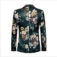 WHEM Jacquard Fashion Floral Pattern <b>Large Size Men's</b> Suit ...