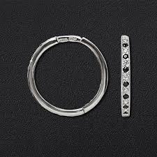 Серебряные <b>серьги</b>-<b>кольца</b> с 40 <b>чёрными</b> и прозрачными ...