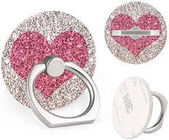 Cell Phone <b>Ring</b> Stand Holder Red Love <b>Heart Universal</b> 360 ...