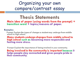 transition words for comparison contrast essays   essay organizing your own compare contrast essay thesis statements main idea of paper using words