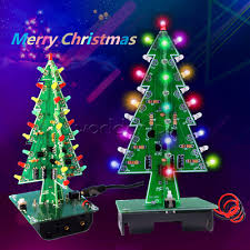 <b>DIY</b> 3D <b>Christmas</b> Kit Flashing <b>Light</b> LED Circuit 3/7 <b>Colors Xmas</b> ...