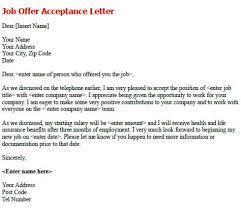job offer acceptance letter sample   job seekers forums
