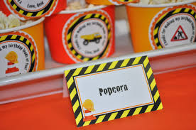 Construction Birthday Party Decorations Construction Food Labels Boys Construction Birthday Party