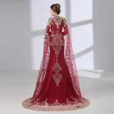 Burgundy Arabic Mermaid Evening Dresses 2019 <b>Robe De Soiree</b> ...