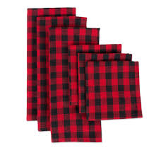 Design Imports 6-<b>Pc</b> Logger Check <b>Kitchen</b> Towel& <b>Dishcloth</b> Set ...