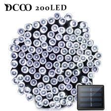 <b>Dcoo</b> LED Solar Light 72ft 22meter <b>200 LED</b> 8 Modes ...