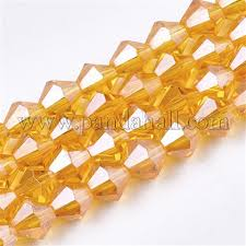 Wholesale Electroplate <b>Glass</b> Beads Strands, Pearl Luster Plated ...