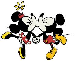 Kuvahaun tulos haulle mickey and Minnie mouse kiss