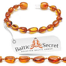 <b>Amber Teething Bracelet Anklet</b> for Baby Girl or Boy, Certified <b>Baltic</b>