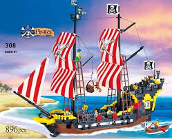 <b>870 Pcs</b> Pirates Series Enlighten 308 <b>Black Pearl</b> Model Building ...
