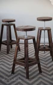 ana white build a industrial adjustable height bolt bar stool free and easy diy ana white completed eco office desk