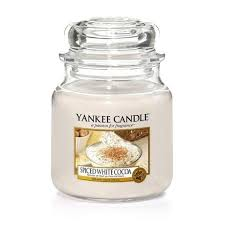 <b>Ароматическая свеча</b> Yankee Candle <b>Spiced White</b> Cocoa / Белое ...