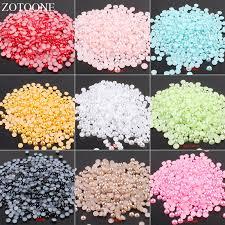 <b>ZOTOONE 1000Pcs</b> Pearls Half Round Round Beads For DIY Craft ...