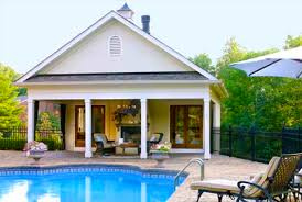 Custom Pool House Design Plans Ideas  amp  PicturesWhen considering different ideas for pool houses  one thing you will want to keep in mind is your budget  The cost to build a pool house can often be quite