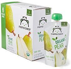Amazon Brand - Mama Bear <b>Organic Baby Food</b>, <b>Stage</b> 1, Pear, 4 ...