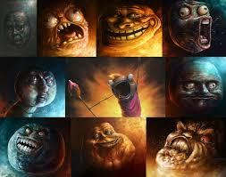 meme trollface smiley face artwork forever alone ok me gusta fan ... via Relatably.com