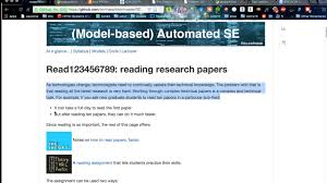how to a research paper in software engineering on vimeo