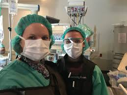 olma juniors participate in job shadow program our lady of mercy photo of gianna capriotti and anesthesiologist during olma job shadow program