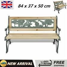 <b>Children Garden Bench 84cm</b> Wood Outdoor Patio Park Classic ...