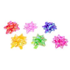 <b>Бант</b>-<b>звезда</b> №6,3 перламутровый (<b>набор</b> 6 шт), цвета ассорти ...