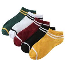 <b>1 Pair Men Women</b> Stripe Comfortable Cotton Sport Sock Outdoor ...