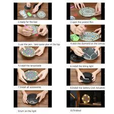 <b>DIY Mandala Diamond Painting</b> Light Embroidery Full Special Drill ...