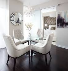 chair dining tables room contemporary: tips for selecting the best glass dining table set contemporary dining room with rounded glass
