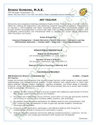 art teacher resume sample   page