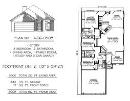 bedrooms   under sq ft Story  Bedroom  Bathroom  Family Room  Dining Room  Study  Car Garage Square Feet House Plan Monte Smith Designs House Plans