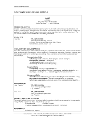 resume examples  resume skills section examples examples of    functional skills resume example for career objective   education and highlights of qualifications
