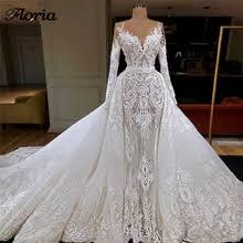 Buy <b>elegant</b> lace mermaid wedding <b>gown</b> and get <b>free shipping</b> on ...